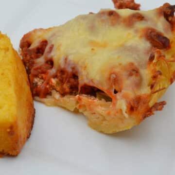 Cheesy Pasta Pie