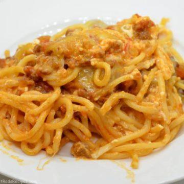 Rod's Spaghetti Casserole