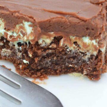 Mint Mississippi Mud Brownies
