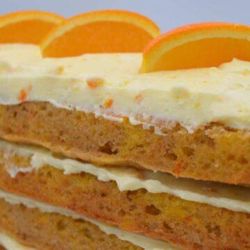 Spiced Orange Cake with Orange Mascarpone Icing