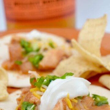 Slow Cooker Honey Bourbon Chicken Street Tacos