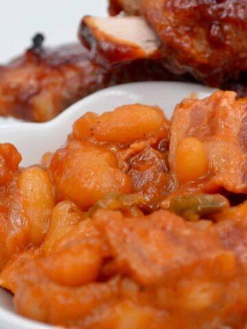 Sweet Mango Baked Beans