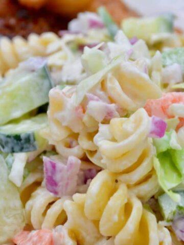 Macaroni Coleslaw Salad