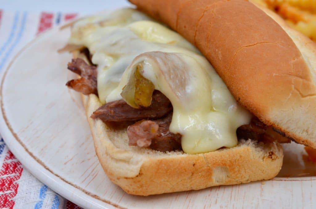 Instant Pot Cheesesteak Sandwiches
