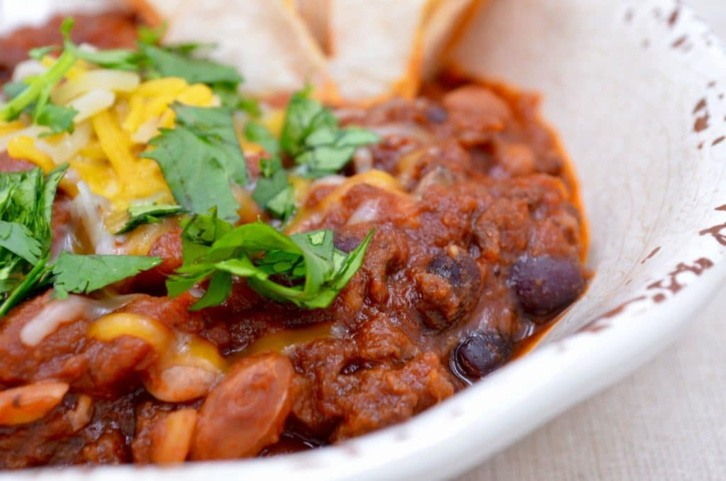 Spicy Chorizo and Bean Chili