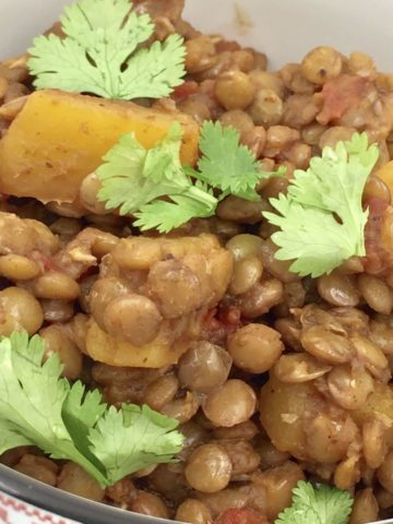 Healthy Lentil Butternut Squash Chili