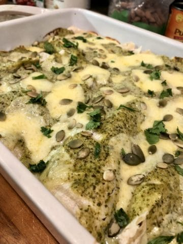Chicken Enchiladas In Green Sauce