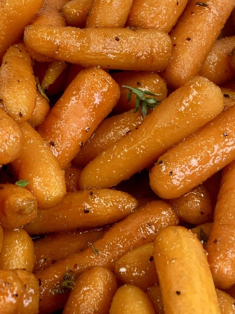 Honey Garlic Roasted Carrots