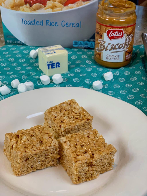 Cookie Butter Rice Krispy Treats