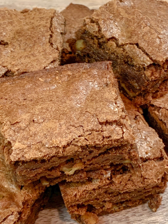 Classic Saucepan Chocolate Brownies with Walnuts