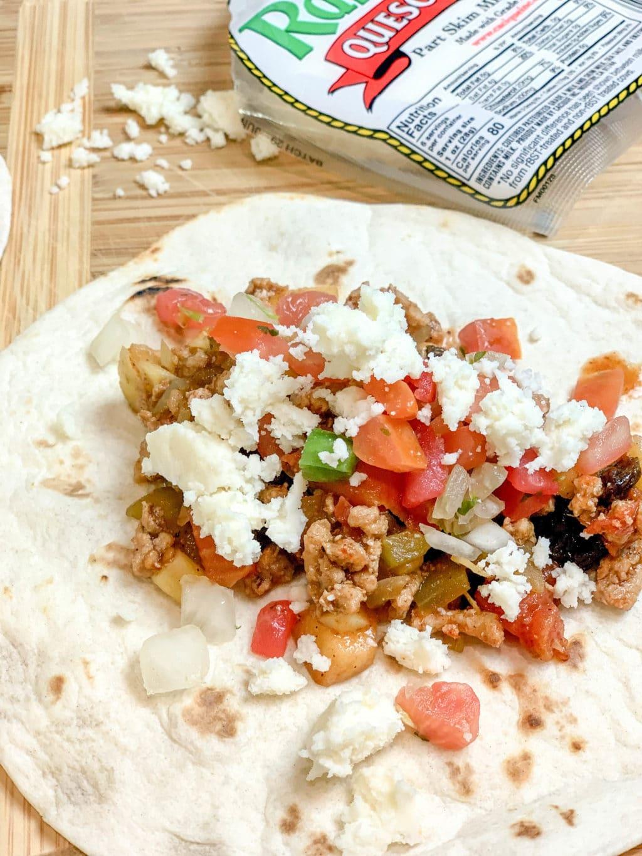 Turkey Picadillo Soft Tacos