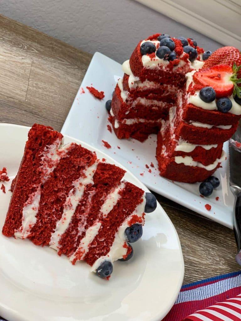Patriotic Red Velvet Cake