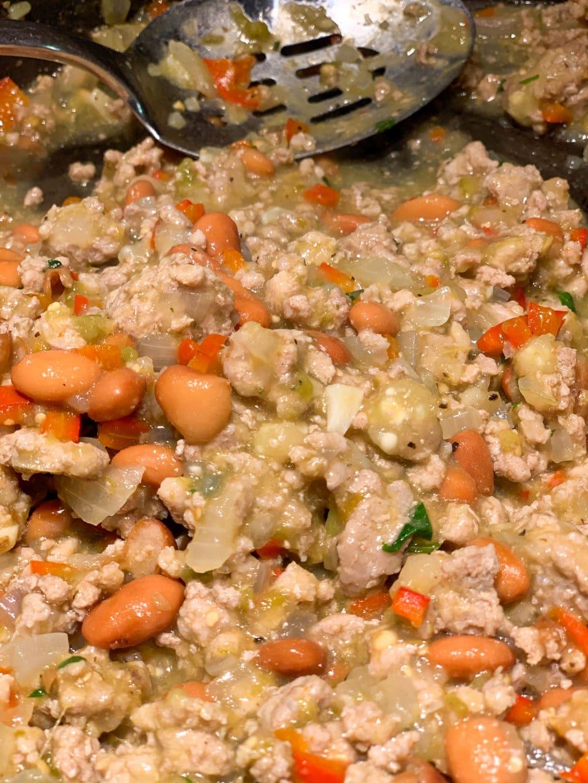 Turkey Tomatillo and Bean Burrito