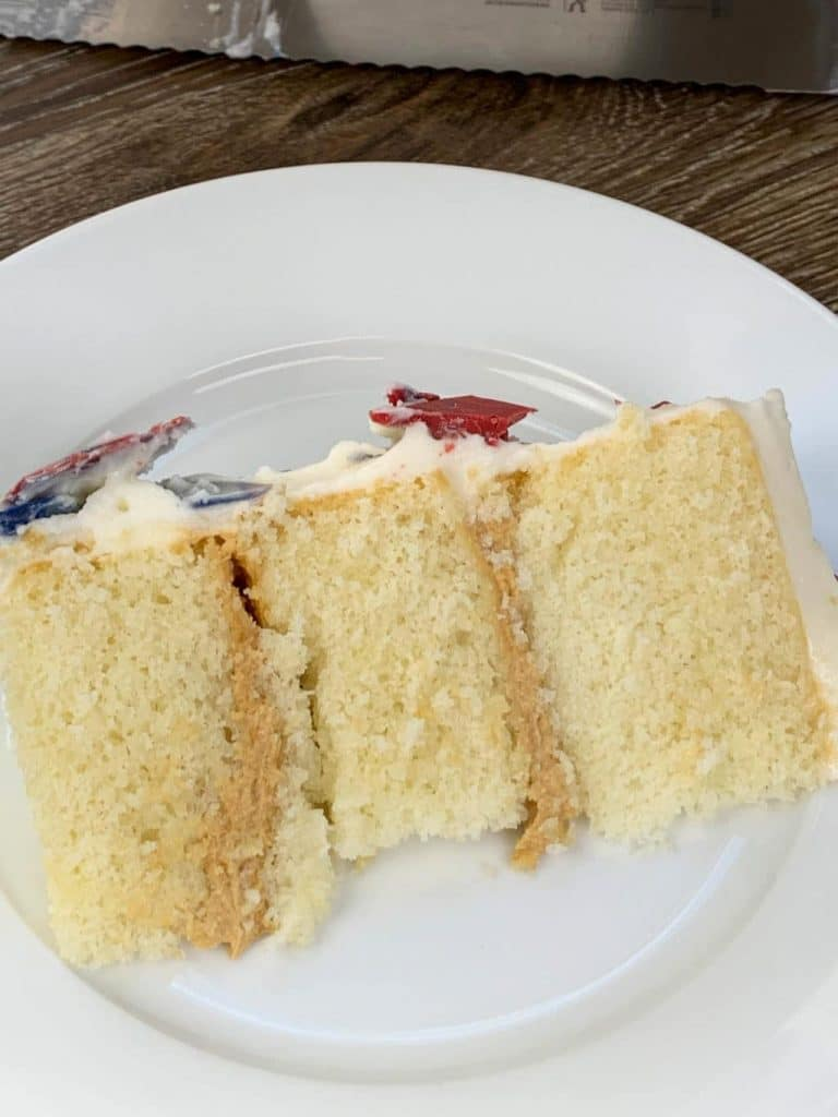 White Cake with Cookie Butter Filling