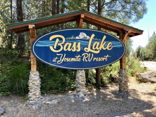 Bass Lake at Yosemite Sign