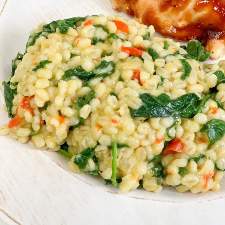 Instant Pot Barley and Vegetable Risotto