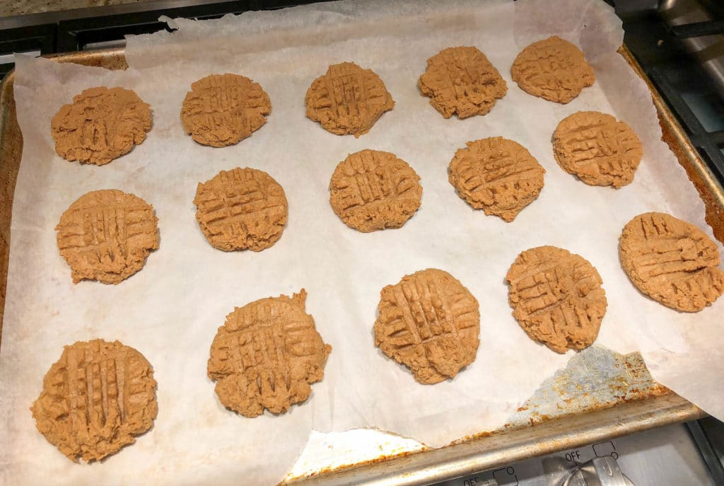 Sugar-Free Low Carb Peanut Butter Cookies