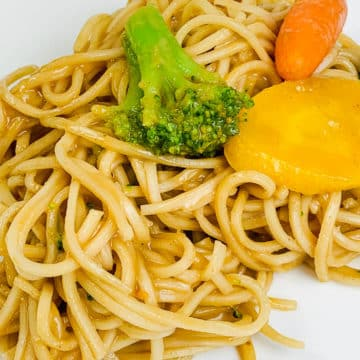 Asian Noodles with Peanut Dressing