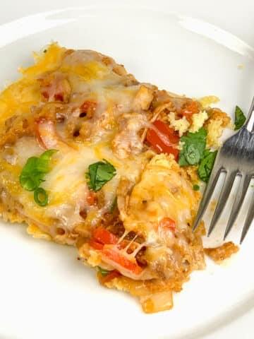BBQ Chicken Cornbread Pizza