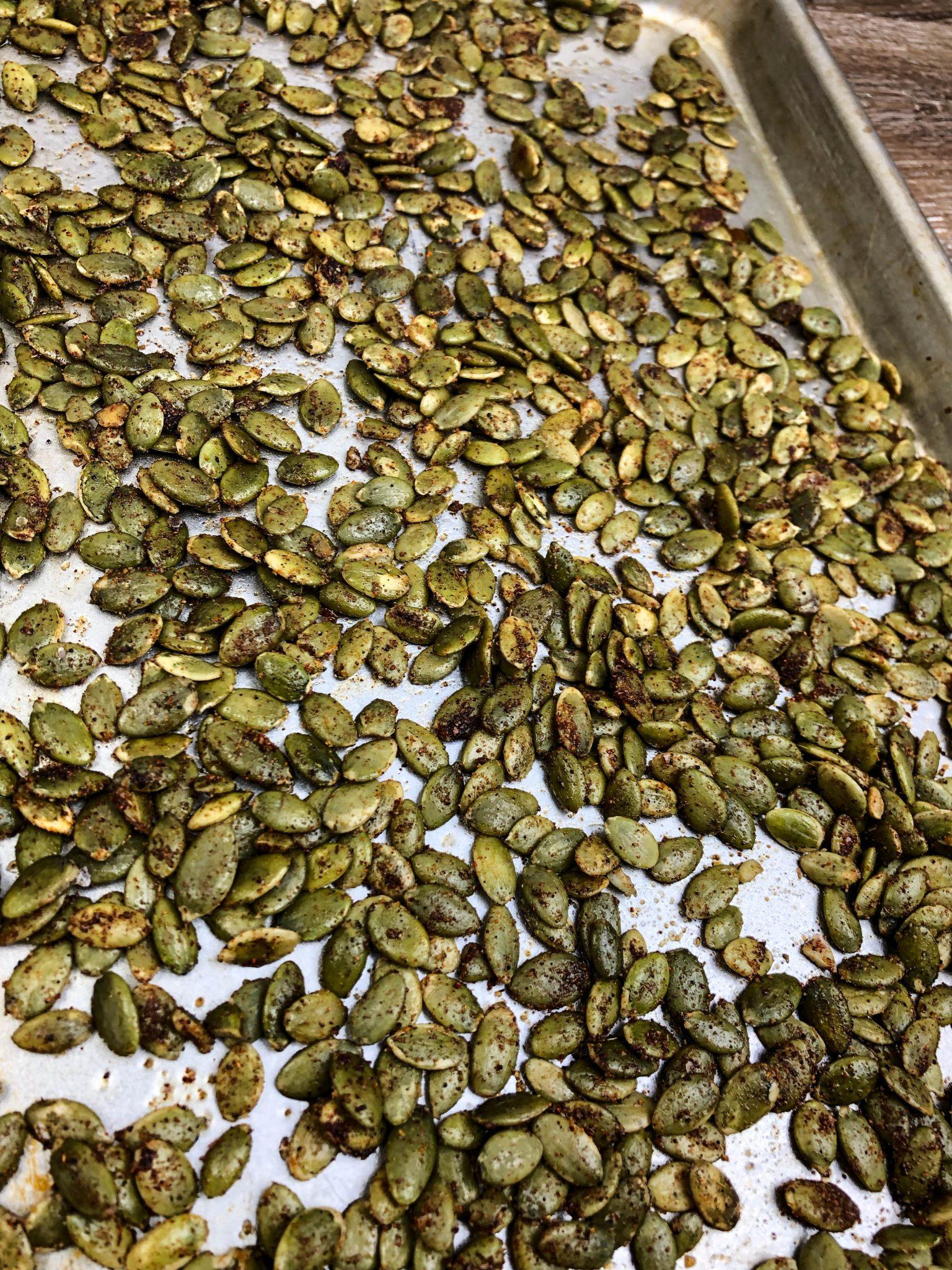 Chili Lime Roasted Pumpkin Seeds