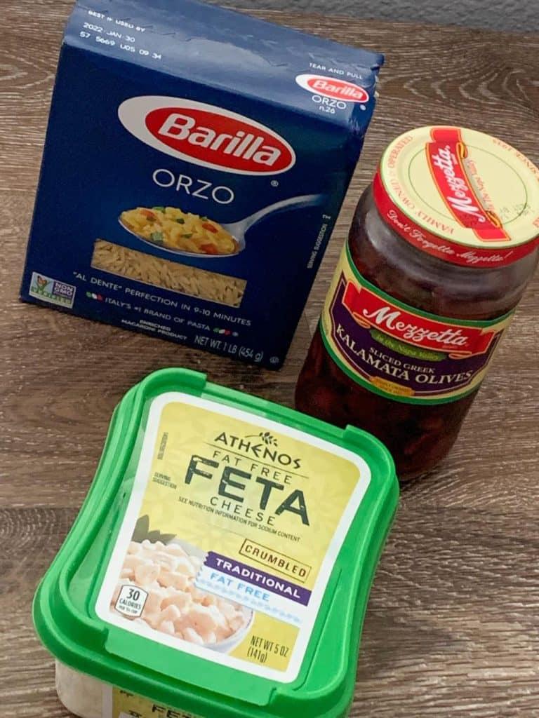 Greek Chicken Orzo Salad Ingredients