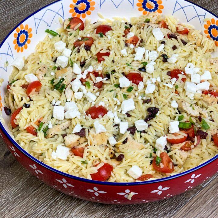 Greek Chicken Orzo Salad