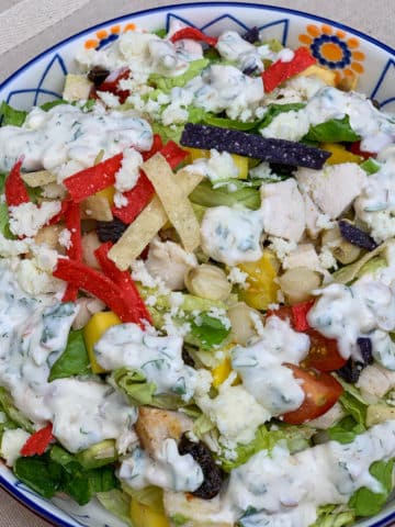 Mexican Chopped Salad with Jalapeño Dressing