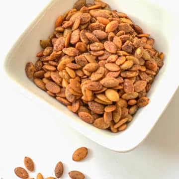 Spicy Chili Lime Roasted Pumpkin Seeds