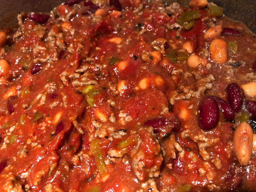 Simmering Chili for Wendy's Copycat Chili