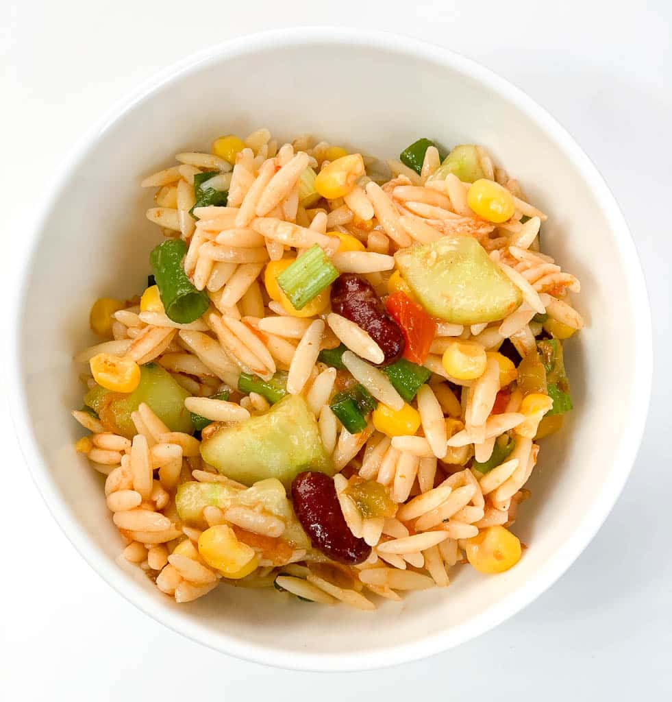 Chicken and Bean Orzo Salad