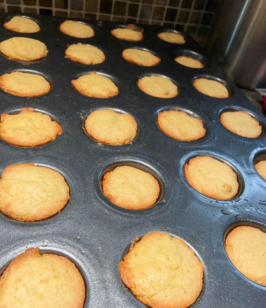 Baked Boston Cream Pie Cookie Bites