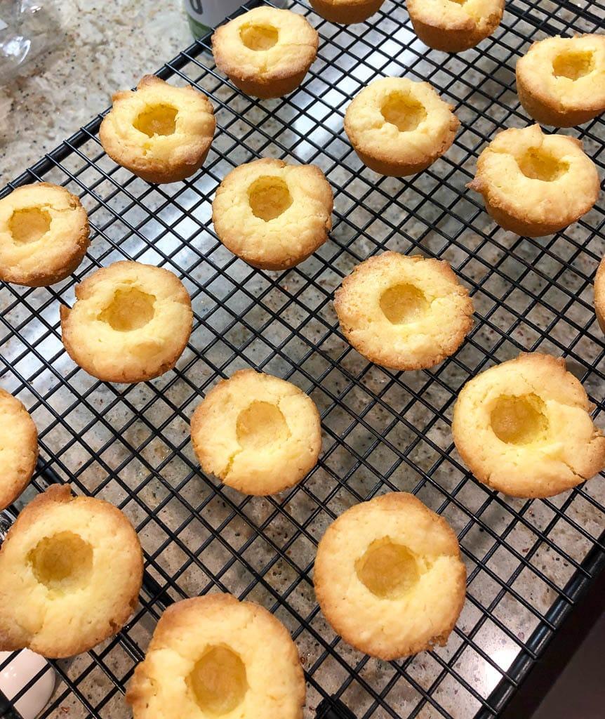 Cooling the Boston Cream Pie Cookie Bites