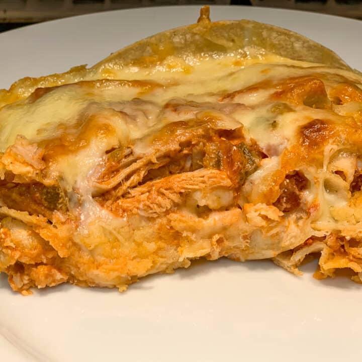 Buffalo Chicken Enchilada Casserole