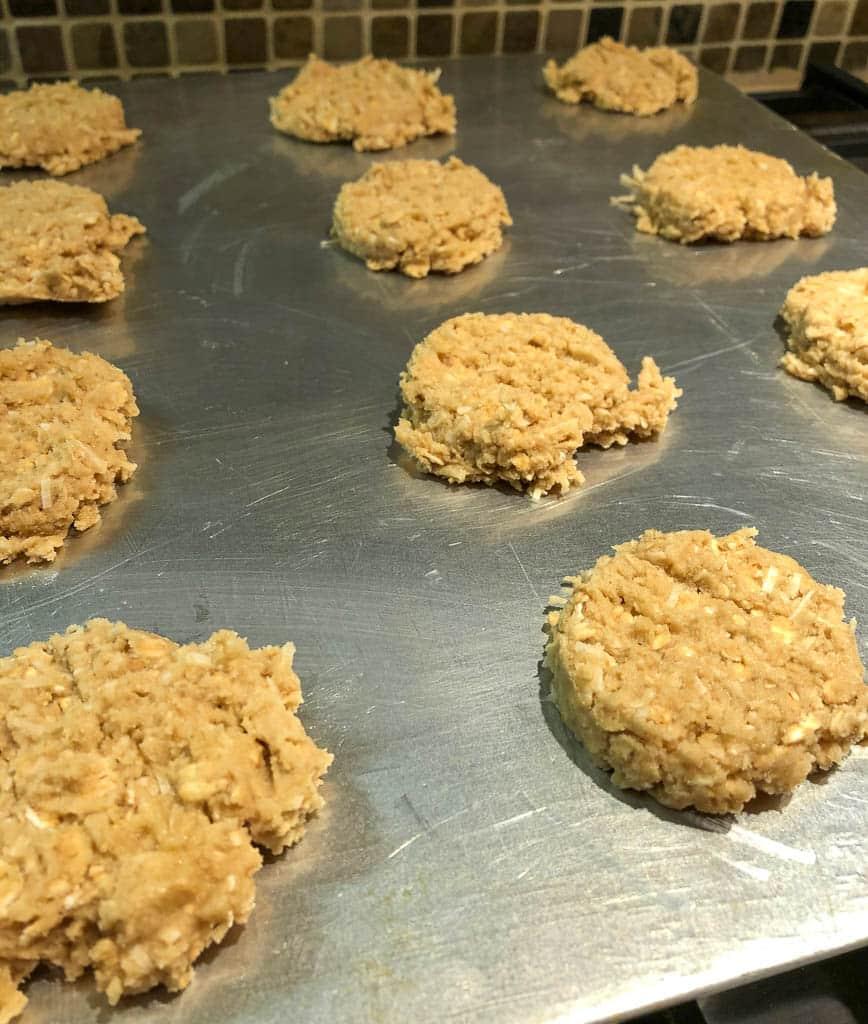 Crunchy Coconut Crisp Cookies
