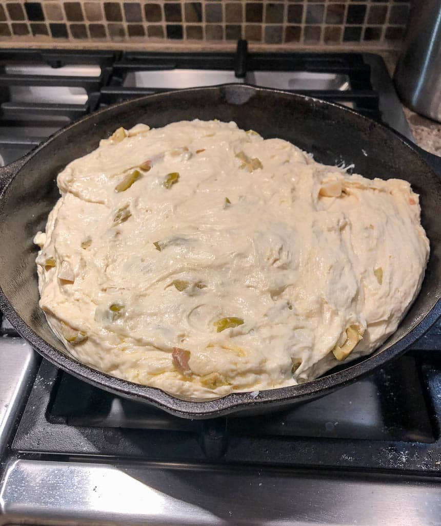 Proofed Bread in Skillet
