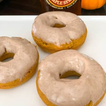 Baked Pumpkin Donuts with Maple Glaze