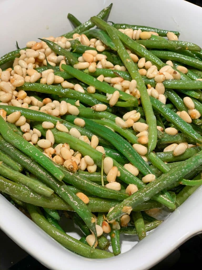 Roasted Garlic Green Beans