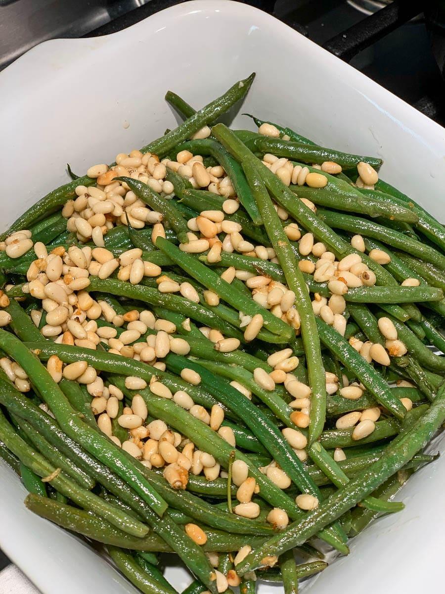 Roasted Garlic Green Beans