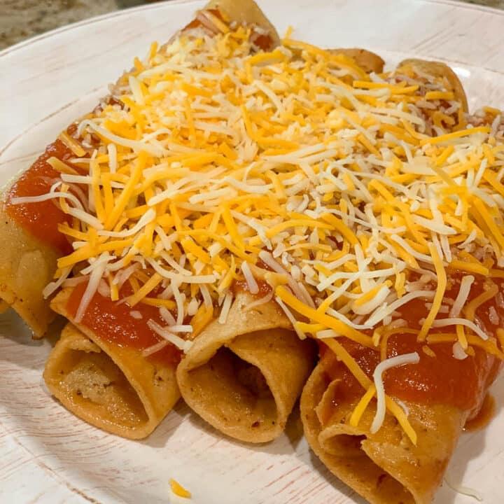 Corn Burritos with Red Sauce