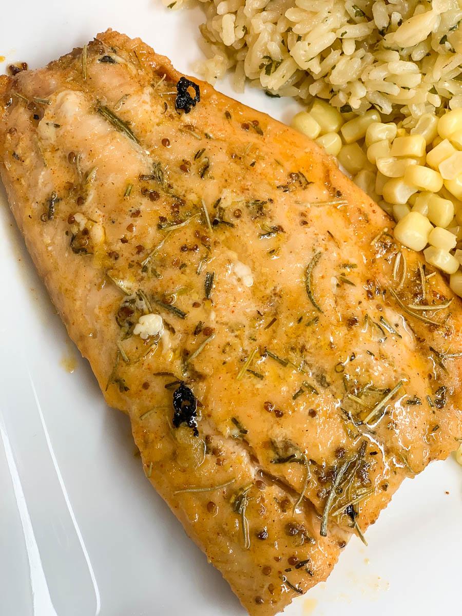 Maple & Mustard Roasted Salmon