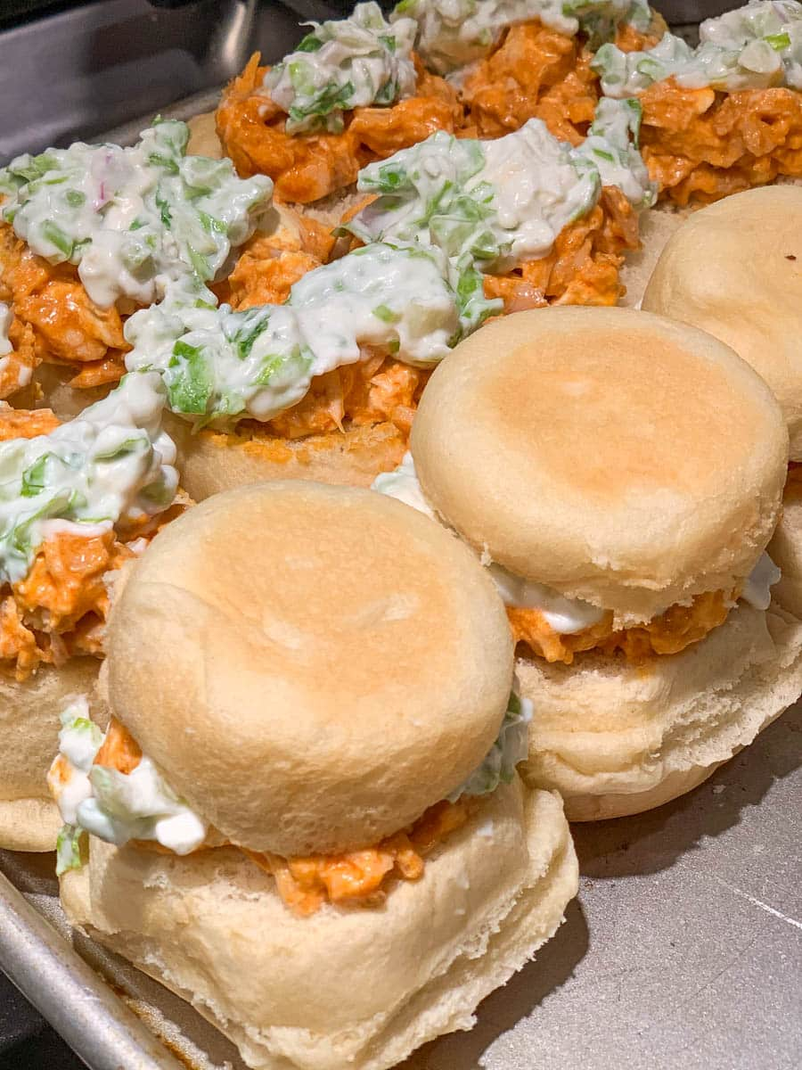 buffalo chicken blue cheese sliders