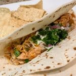 slow cooker chicken lime tacos pin