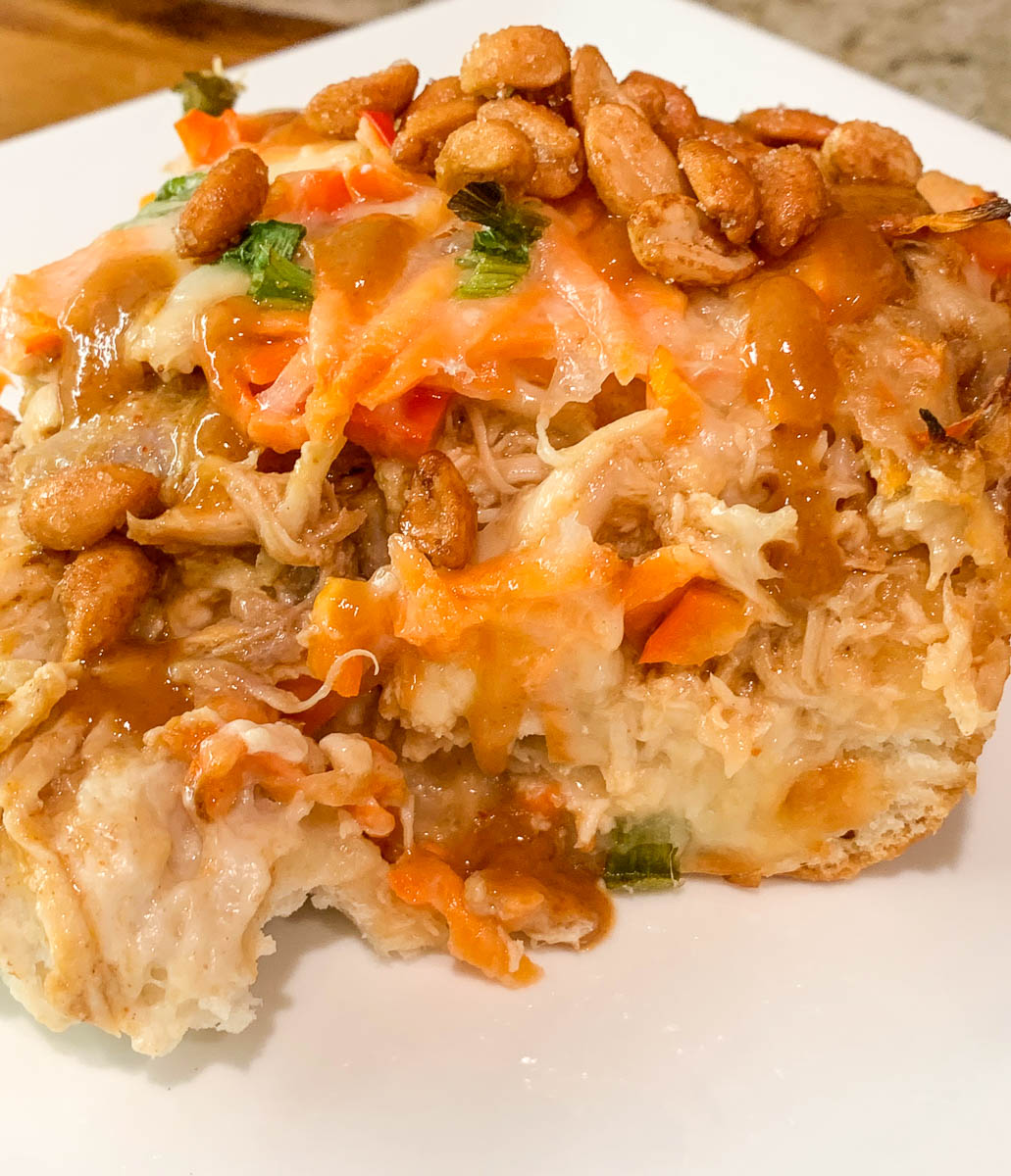 thai peanut chicken casserole