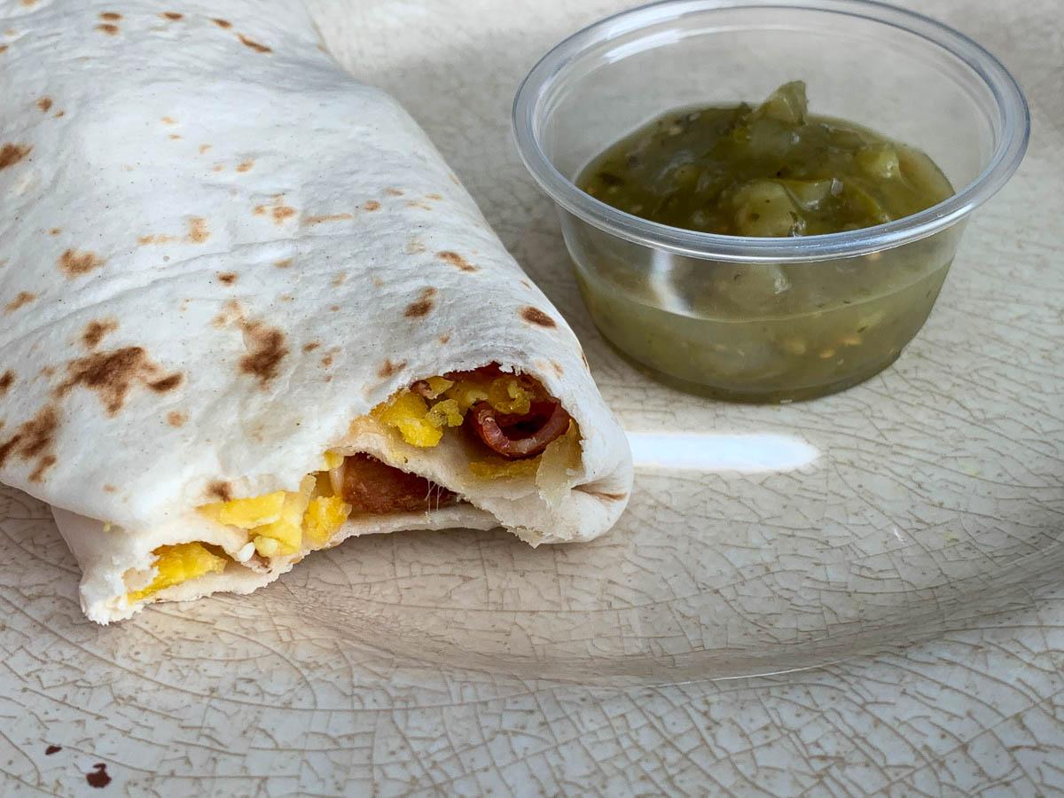 egg bacon breakfast burrito