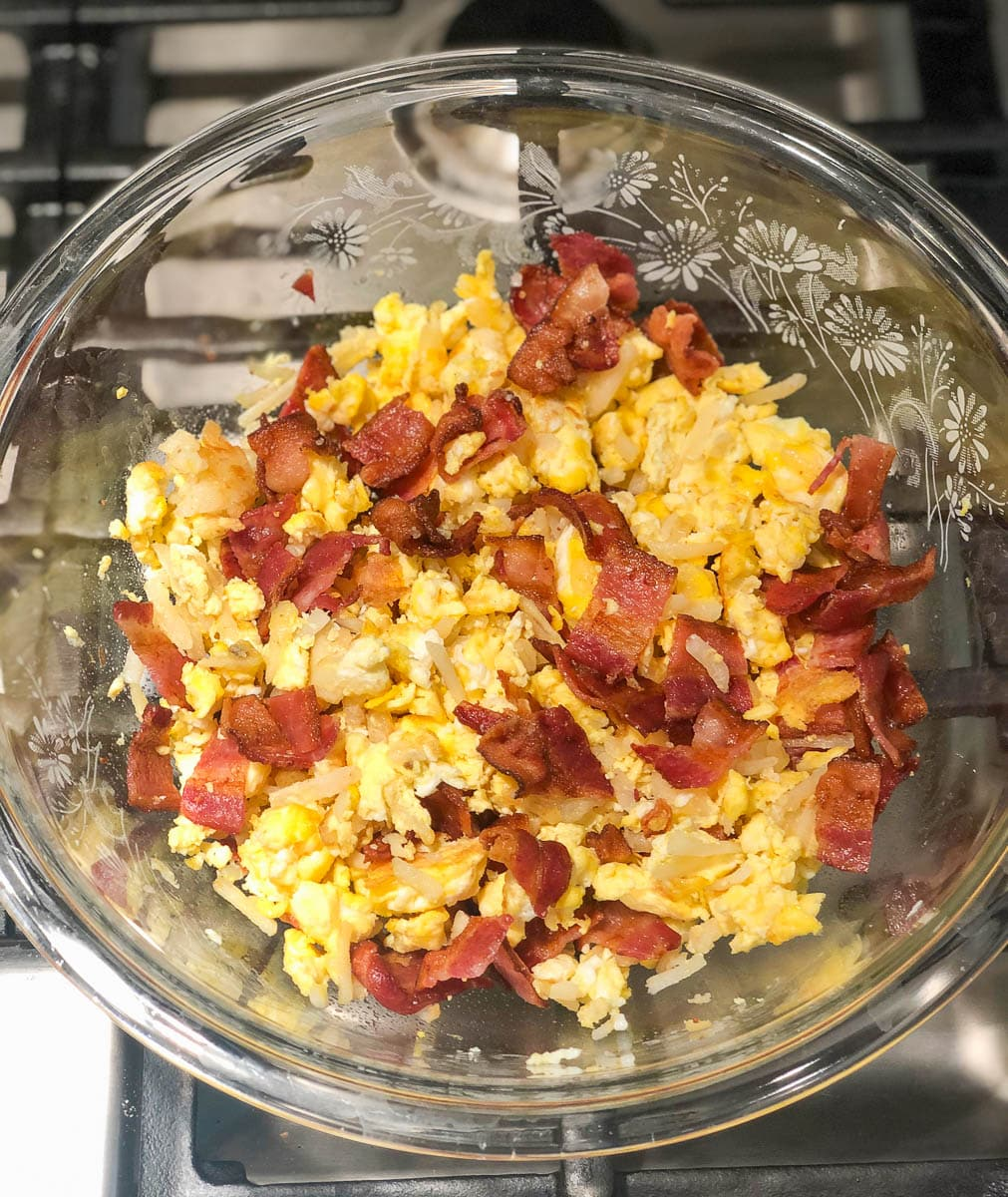 bacon breakfast burritos
