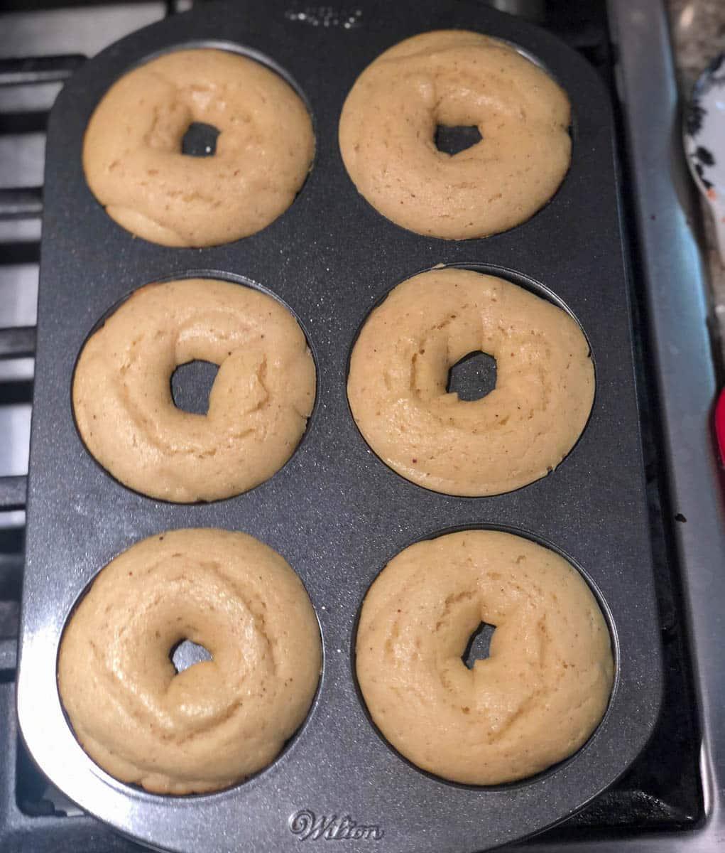 baked donuts chocolate glaze
