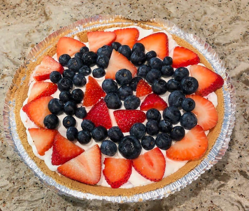 cream cheese fruit pie