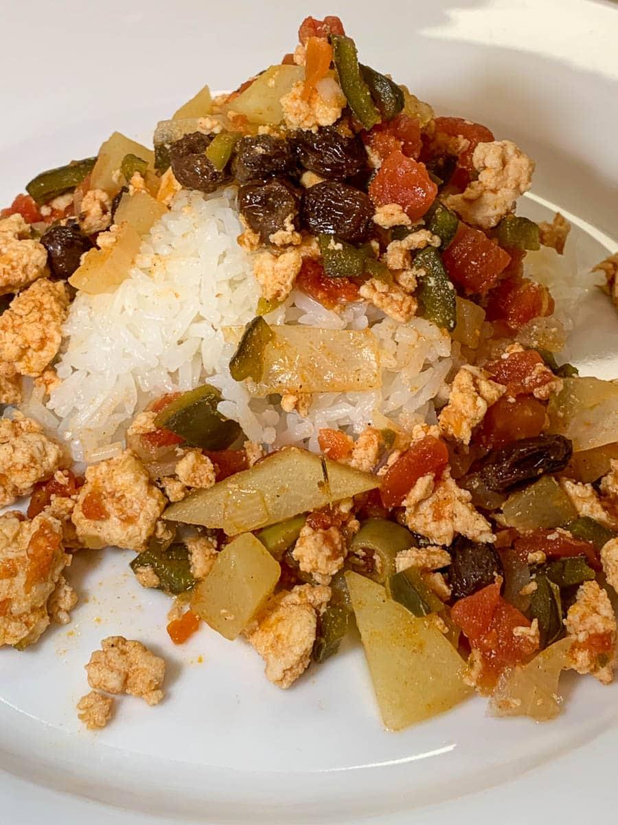 mexican chicken picadillo