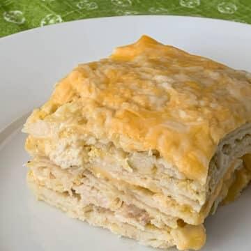 green chili chicken enchilada casserole-2