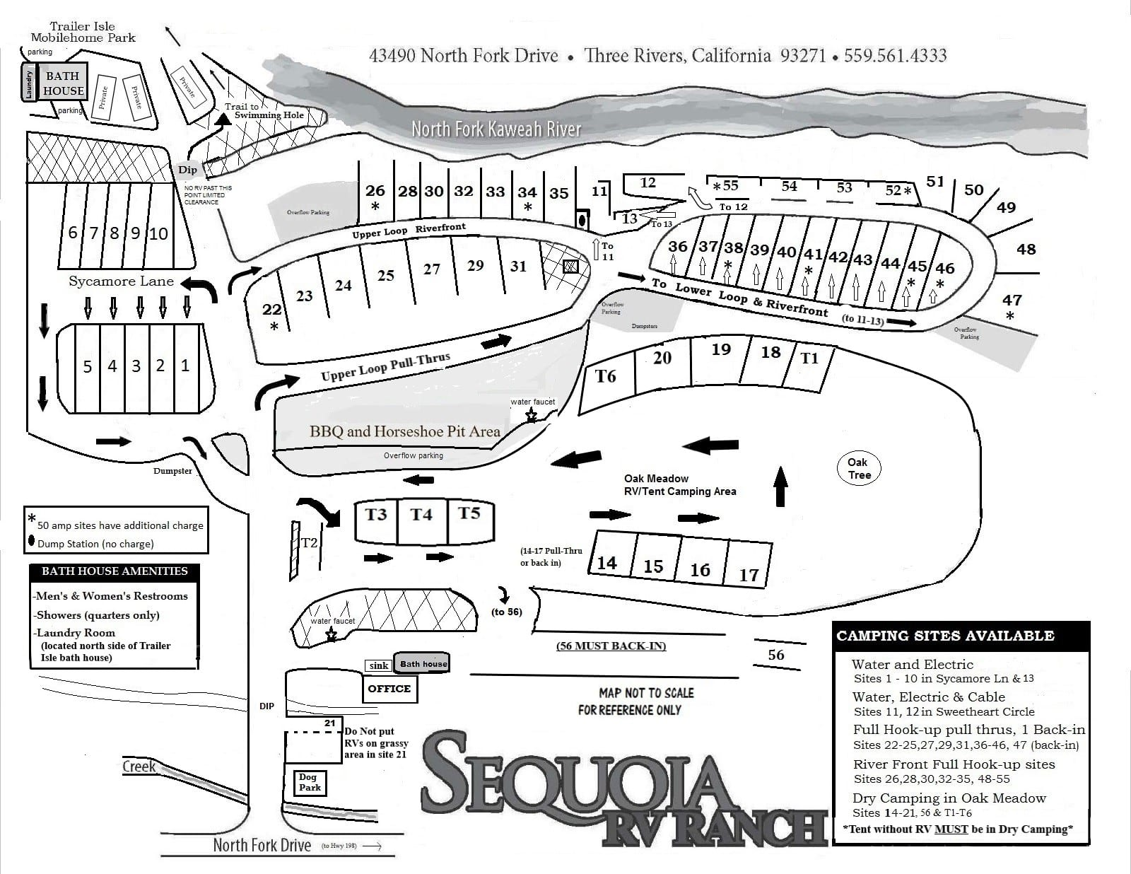 sequoia rv ranch map